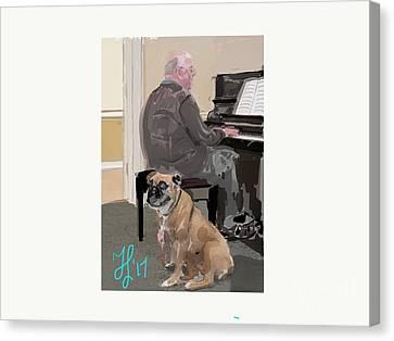 Canine Composition Canvas Print