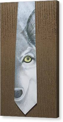 Canis Lupis Canvas Print by David Kelly