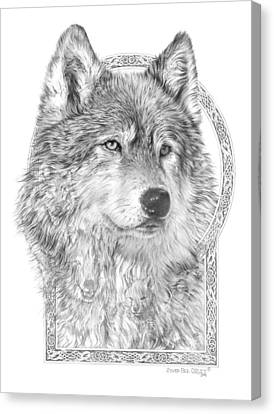 Canis Lupus Iv - Wolf Pack  Alpha Leader Canvas Print