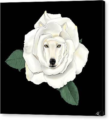 Canis Rosa Canvas Print
