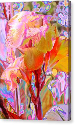 Canna Abstract 3 Canvas Print by M Diane Bonaparte