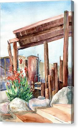 Canna And Boiler Run Canvas Print by John Ressler