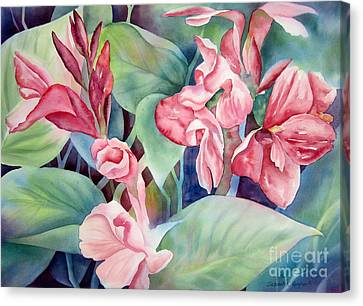 Canna Canvas Print by Deborah Ronglien
