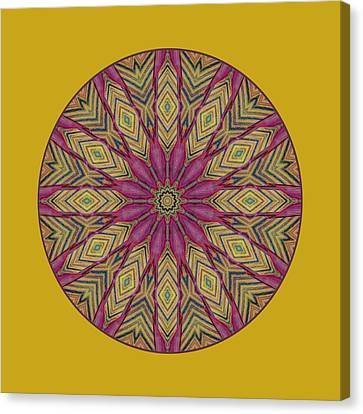 Canna Leaf - Mandala - Transparent Canvas Print