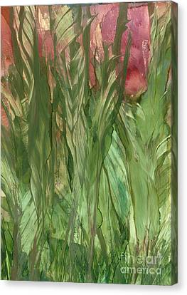 Canna Lilies Canvas Print by Lisa Grogan