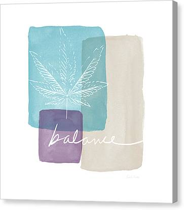 Canvas Print featuring the mixed media Cannabis Leaf Watercolor 3- Art By Linda Woods by Linda Woods