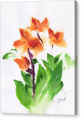 Cannas Abstract Canvas Print by Frank Bright