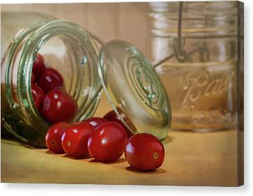 Canned Tomatoes - Kitchen Art Canvas Print