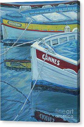Cannes Boats Canvas Print