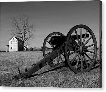 Cannon And The Henry House I Canvas Print by Steven Ainsworth