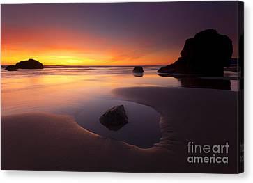 Cannon Beach Sunset Canvas Print by Mike  Dawson