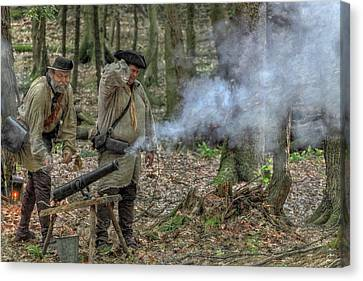 Cannon In The Forest Canvas Print by Randy Steele
