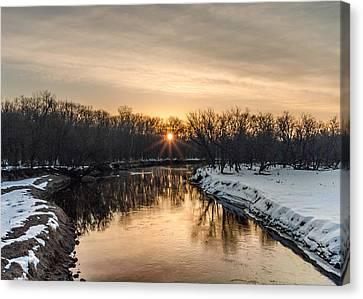 Cannon River Sunrise Canvas Print by Dan Traun