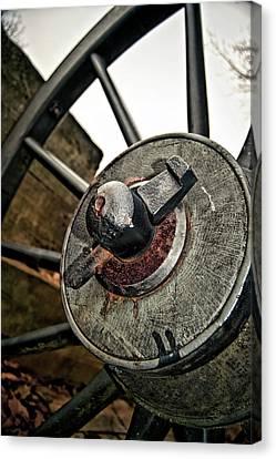 Cannon Wheel Canvas Print