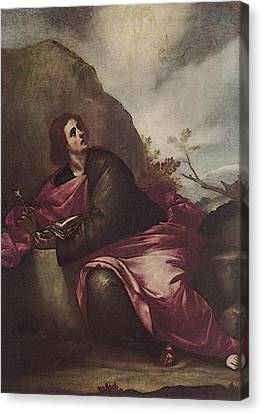 Cano Alonso St John The Evangelist On Pathmos Canvas Print