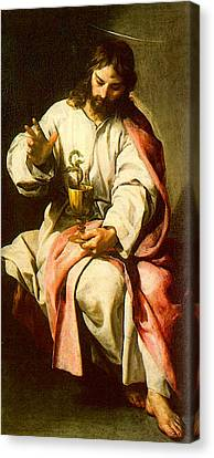 Cano Alonso St John The Evangelist With The Poisoned Cup Canvas Print