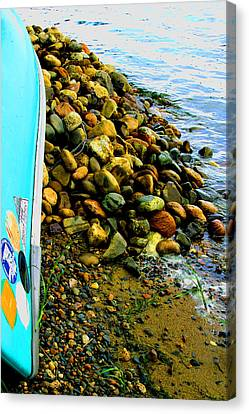 Canoe  And  Shore -  1 Canvas Print
