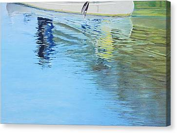 Canoe For Two Canvas Print by Richard Laycock