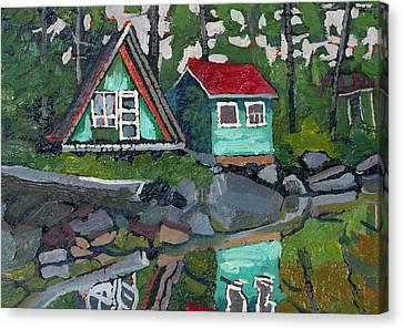 Canoe Lake Bunkies Canvas Print by Phil Chadwick