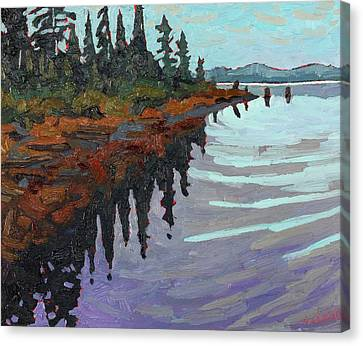 Canoe Lake Point Canvas Print by Phil Chadwick