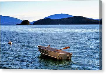 Canoe Canvas Print by Martin Cline