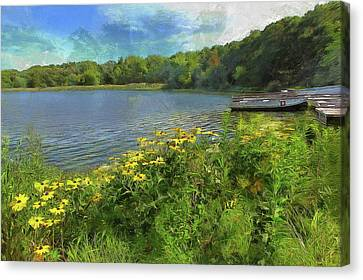 Canoe Number 9 Canvas Print