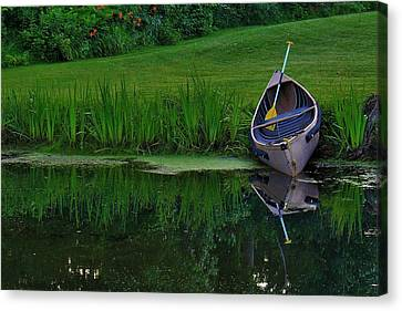 Canoe Reflection Canvas Print