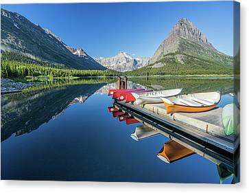 Canoe Reflections Canvas Print