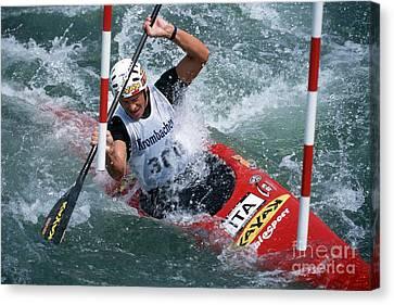 Canoe Slalom 1 Canvas Print by Rudi Prott