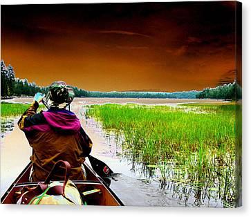 Canoe Trip Canvas Print by Peter  McIntosh