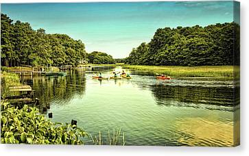 Canoeing Canvas Print by Gina Cormier