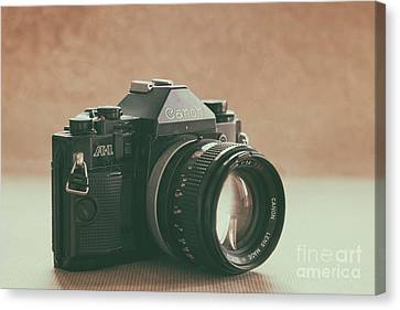Canvas Print featuring the photograph Canon A1 by Ana V Ramirez