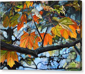 Canopy Of Love Canvas Print by Sheila Vander Wier