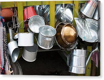 Cans And Pans Canvas Print by Totto Ponce