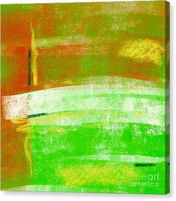 Abstract Cantalope No. 3 Canvas Print