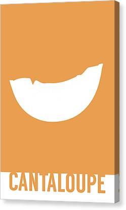 Cantaloupe Canvas Print - Cantaloupe Food Art Minimalist Fruit Poster Series 018 by Design Turnpike