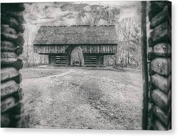 Cantilever Barn Canvas Print by David Wilson