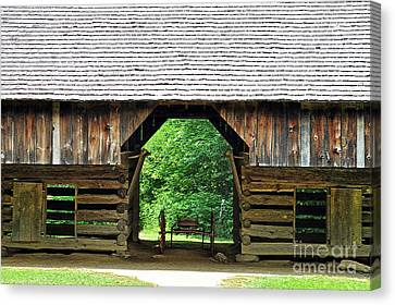 Cantilever Barn Canvas Print by Lydia Holly