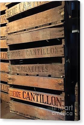 Cantillon Crates Canvas Print by Evan N