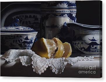 Canton China Lace And Lemon Canvas Print