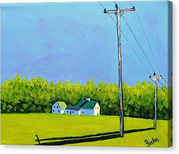 Canton Morning Canvas Print by Laurie Breton