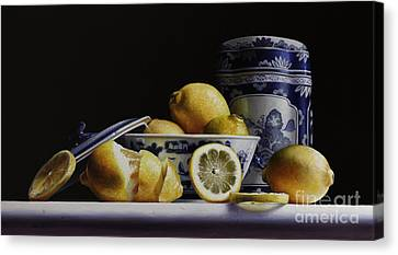 Canton With Lemons Canvas Print