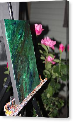 Canvas Print featuring the photograph Canvas And Roses by Vadim Levin