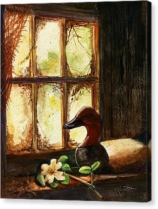 Canvasback Decoy II Canvas Print by Marilyn Smith