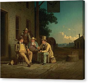 Canvassing For A Vote Canvas Print by George Caleb Bingham