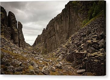 Canyon Aku Aku Canvas Print by Konstantin Dikovsky