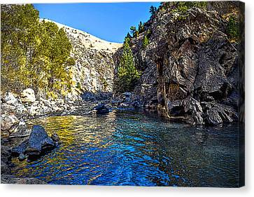 Canyon Bend - Digital Texturing Canvas Print by Michael Brungardt
