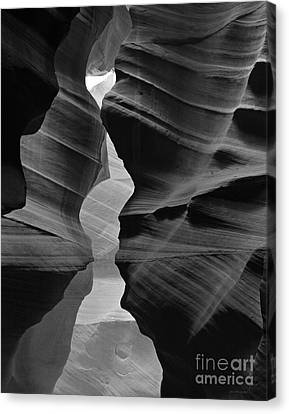 Canyon Curves In Black And White Antelope Canyon Canvas Print