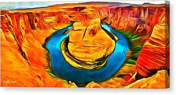 Canyon - Da Canvas Print