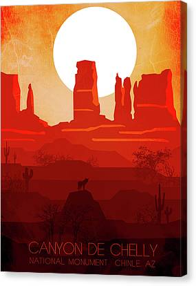 Canyon De Chelly National Monument 2 - By Nostalgic Art  Canvas Print
